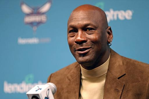 CHARLOTTE, NC- FEBRUARY 12: Owner of the Charlotte Hornets, Michael Jordan, hosts a press conference for media before NBA All-Star Weekend at the Spectrum Center in Charlotte, North Carolina on February 12, 2019. (Photo by Kent Smith/NBAE via Getty Images)