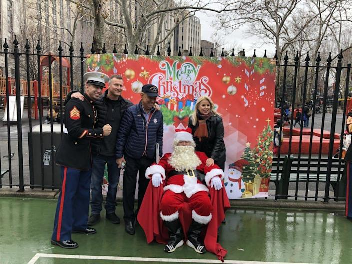 Tao Liu, dressed as Santa at a charity event in New York, was found guilty of money laundering and bribery of US officials.