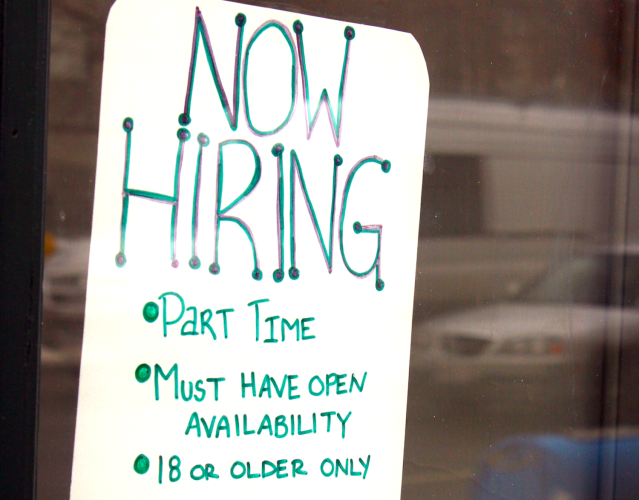 People are working part-time because they can't get the full-time job they want. (Flickr / Quinn Dombrowski)