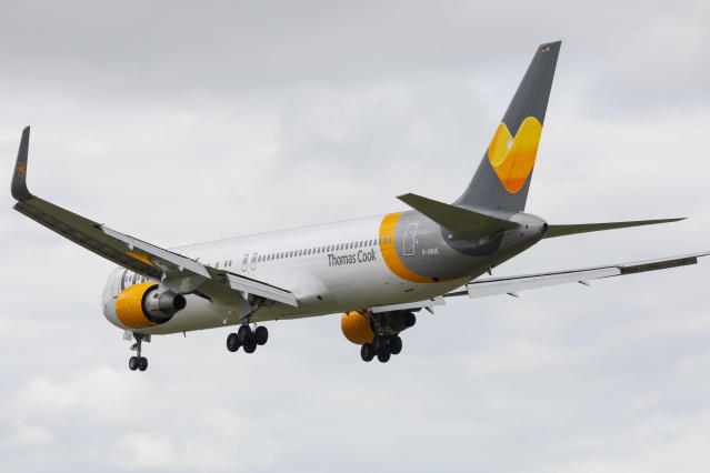 Natasha Allen, 30, pulled her leggings and underwear down in front of shocked passengers and crew on a Thomas Cook flight from Manchester to Fuerteventura. (Getty)