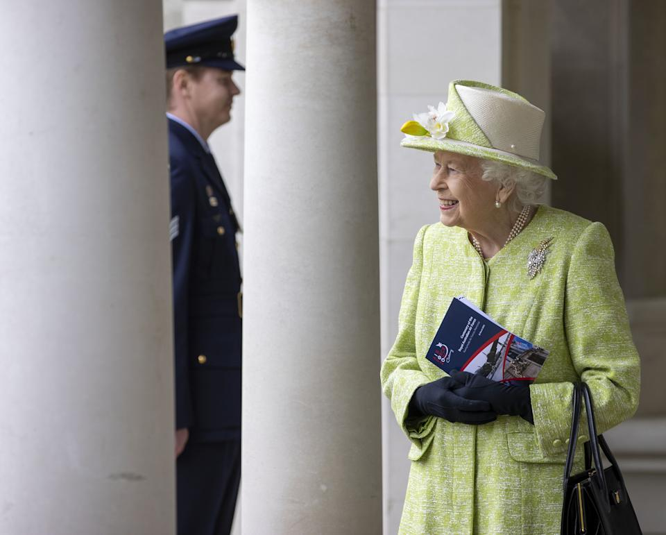 The Queen made her first visit outside the castle of the year. (PA Images)