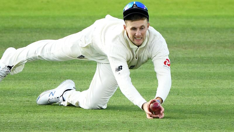 Joe Root, pictured here taking the contentious catch. (Photo by Stu Forster/Getty Images)