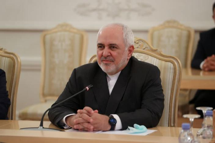 Iranian Foreign Minister Mohammad Javad Zarif meets with his Russian counterpart Sergei Lavrov in Moscow