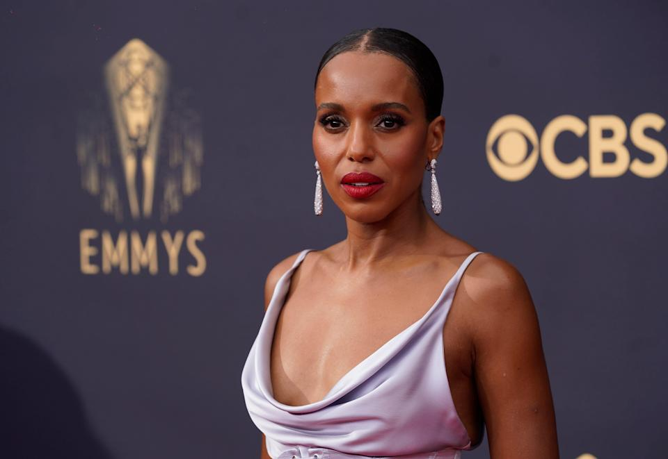 Kerry Washington arrives at the 73rd Primetime Emmy Awards on Sunday, Sept. 19, 2021, at L.A. Live in Los Angeles.