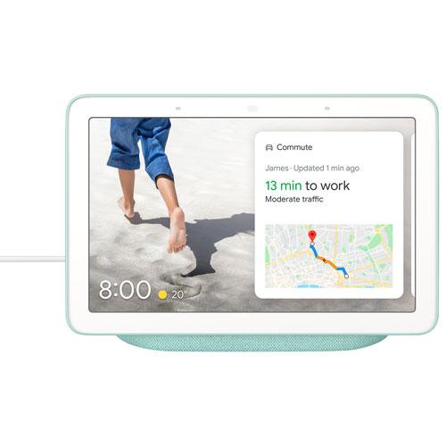 Save $20 on the Google Nest Hub Smart Display with Google Assistant. Image via Best Buy.