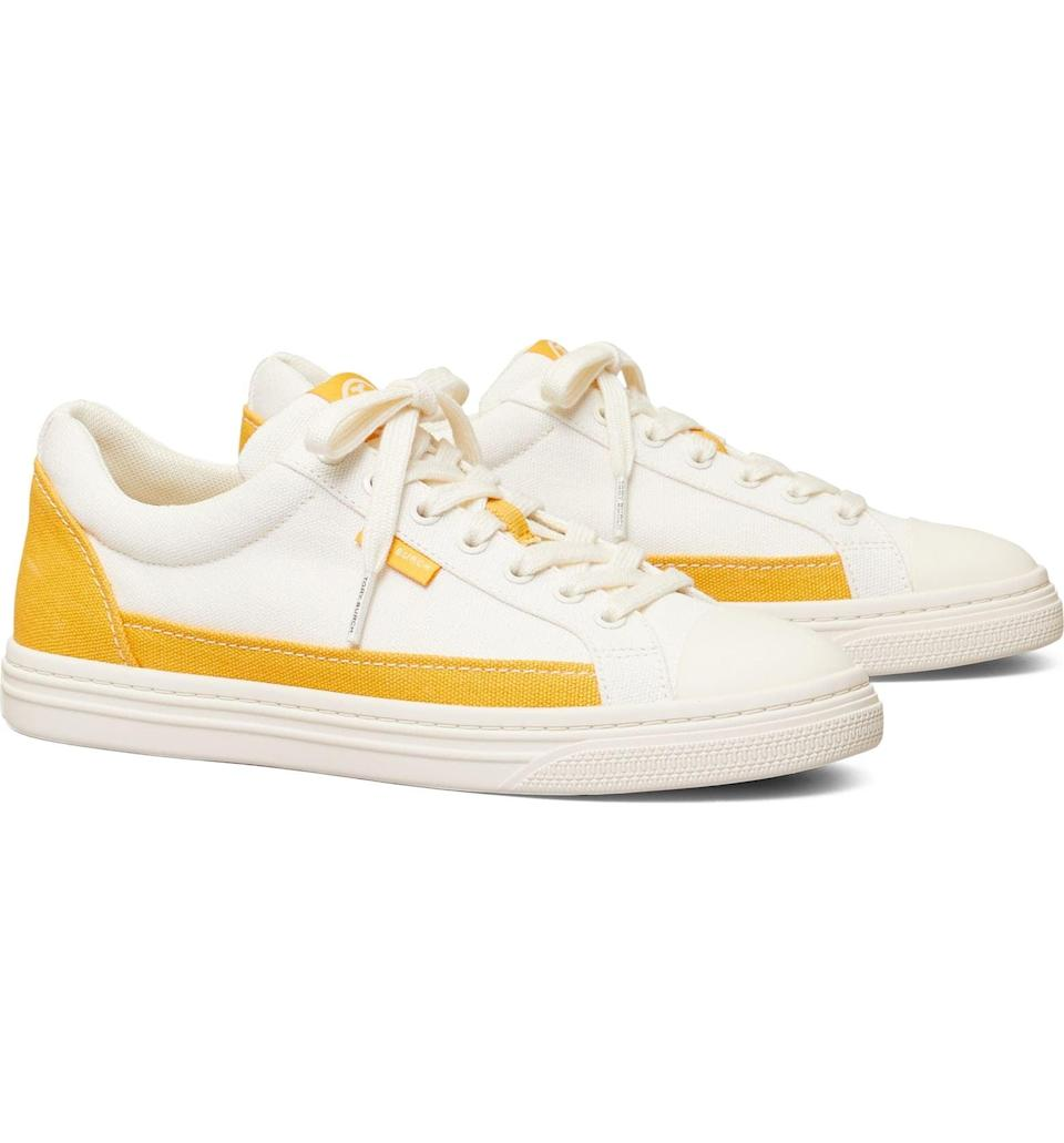 <p>These <span>Tory Burch Classic Court Sneakers</span> ($133, originally $198) have universal appeal while looking distinctly fashionable. The two-toned feature adds something extra. They're the perfect tennis shoes.</p>