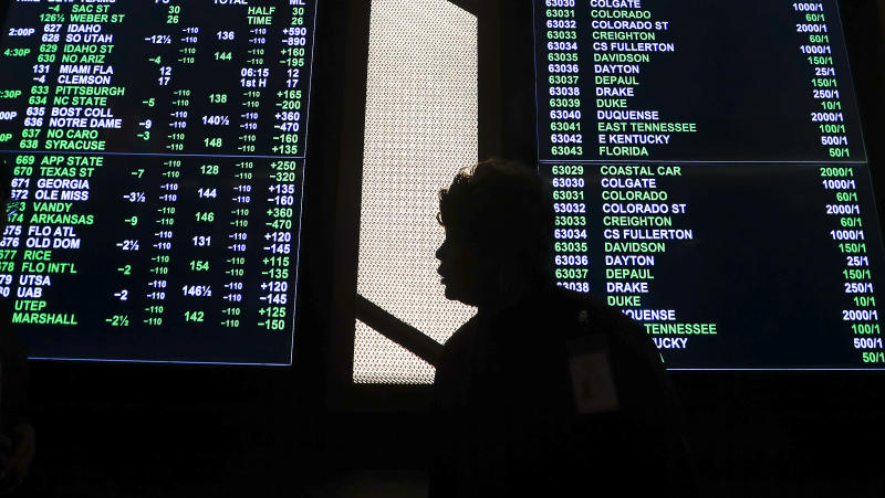 Online sports betting is now legal in Colorado. (AP Photo/Paul Sancya)