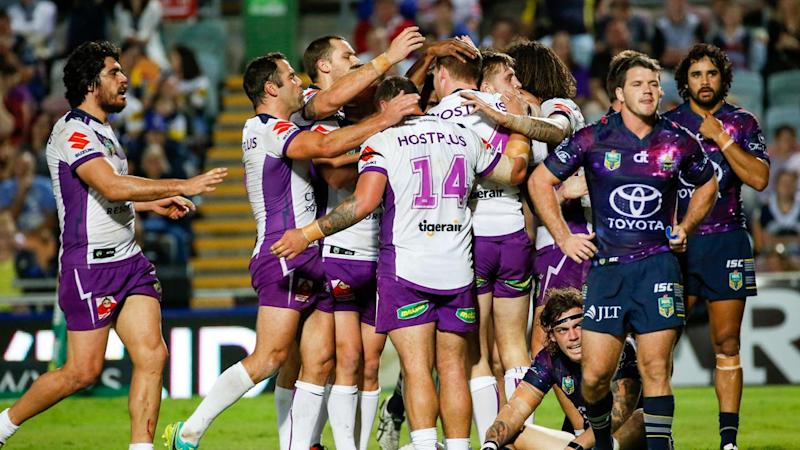 Melbourne have outclassed by 16-8 a North Queensland side without Johnathan Thurston in Townsville.