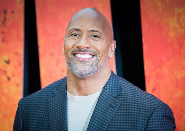 "Dwayne ""the Rock"" Johnson is a supportive partner. (Photo: Getty Images)"