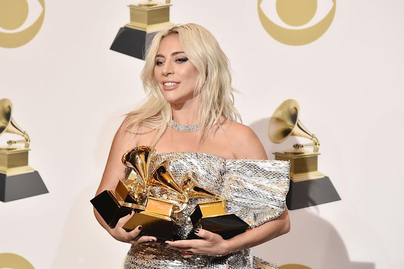 LOS ANGELES, CA - FEBRUARY 10: Lady Gaga attends the 61st Annual Grammy Awards - Press Room at Staples Center on February 10, 2019 in Los Angeles, California. (Photo by David Crotty/Patrick McMullan via Getty Images)