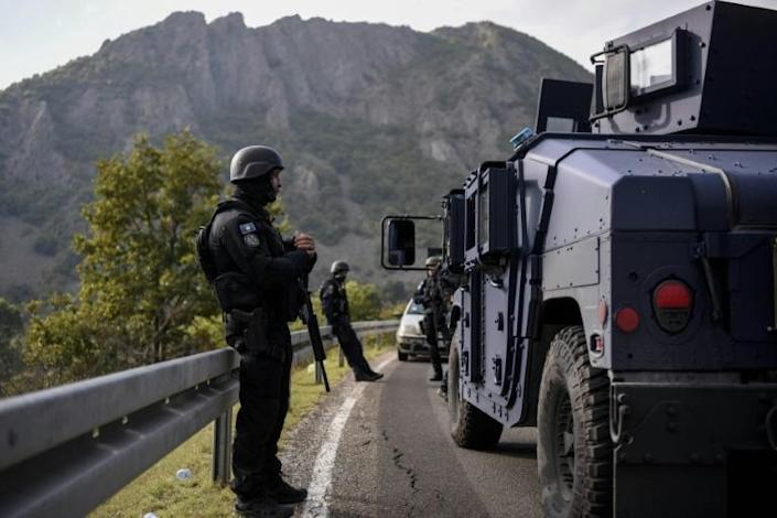 Kosovo special police units were deployed to the border with Serbia in the the latest source of tension between Belrade and its breakaway rebublic (AFP/Armend NIMANI)