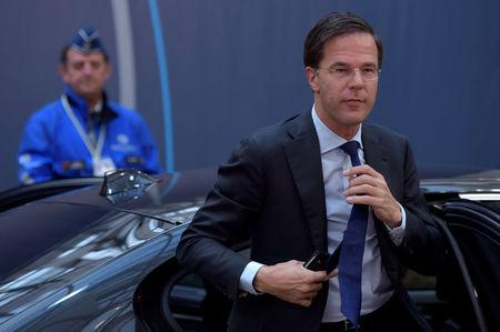 Netherlands' PM Rutte arrives at the EU summit in Brussels