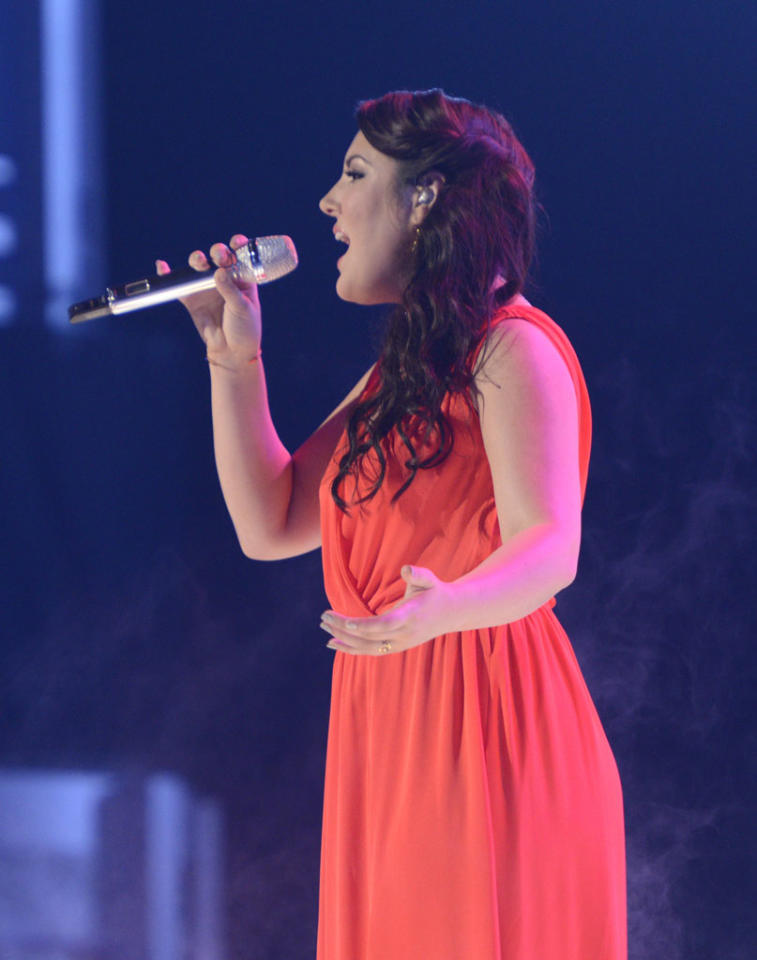 "Kree Harrison performs ""Up to the Mountain (MLK Song)"" on the Wednesday, May 15 episode of ""American Idol."""