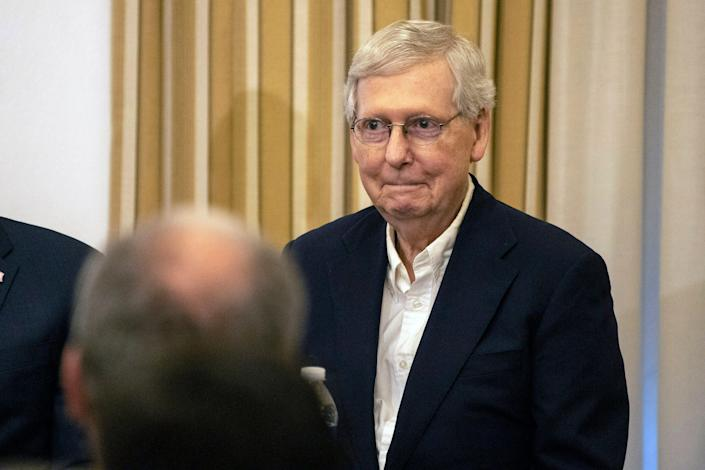 Sen. Mitch McConnell was a guest speaker at University of Louisville on Friday afternoon.