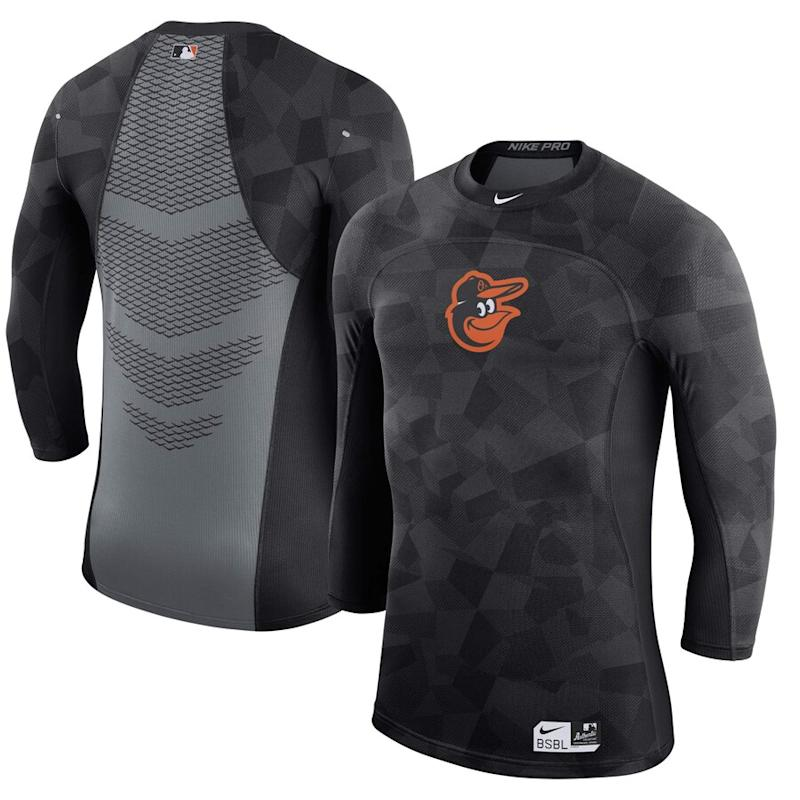 Orioles Authentic Collection Pro 3/4-Sleeve Performance T-Shirt