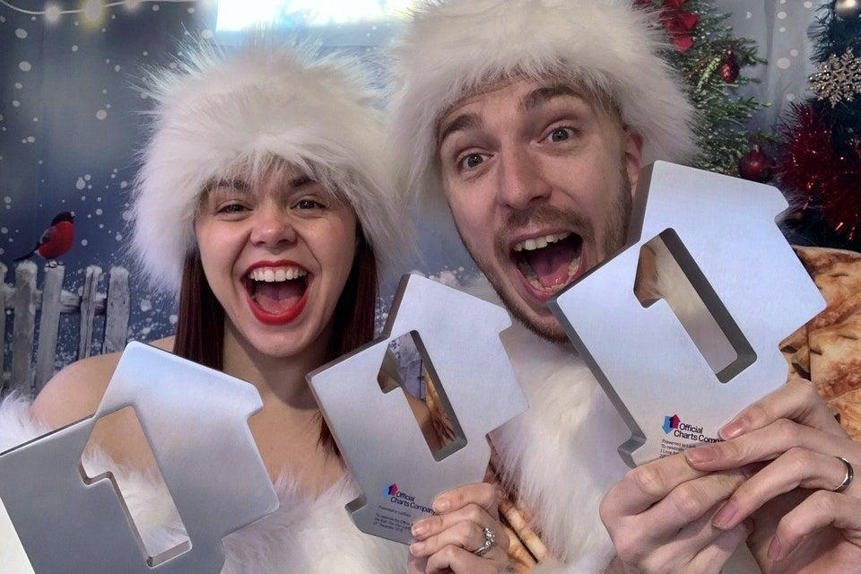 <p>LadBaby topped the charts at Christmas with their parody of the hit, Don't Stop Me Eatin' (PA)</p> (PA)