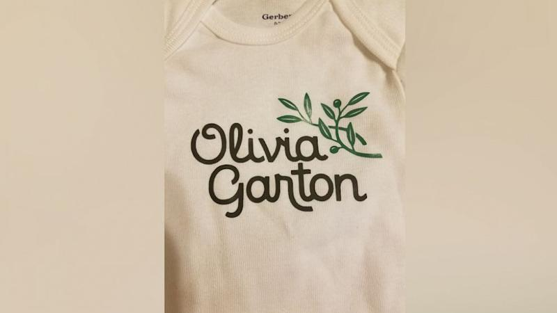 Couple that loves Olive Garden to name their daughter Olivia Garton