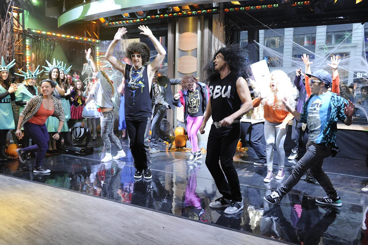 "For our Party Rock Halloween celebration, the ""Good Morning America"" anchors dressed up as the spectacular music stars that made the Summer Concert Series so memorable."