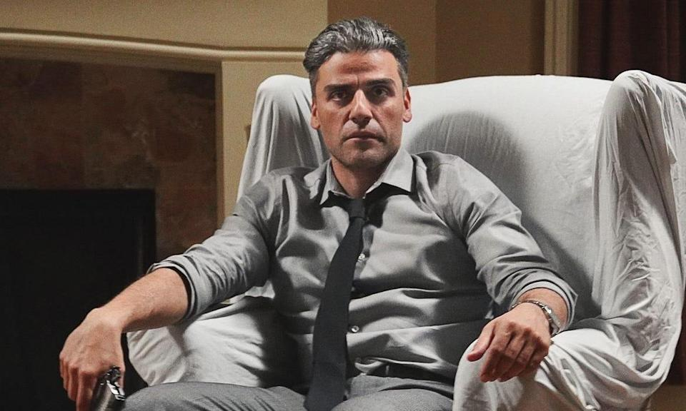 """A picture of Oscar Isaac in """"The Card Counter."""""""