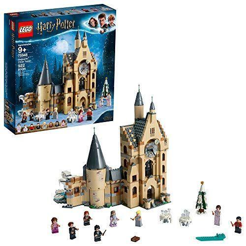 "<strong>LEGO</strong> amazon.com <strong>$89.95</strong> <a href=""https://www.amazon.com/dp/B07QQ39RY3?tag=syn-yahoo-20&ascsubtag=%5Bartid%7C10055.g.29553257%5Bsrc%7Cyahoo-us"" rel=""nofollow noopener"" target=""_blank"" data-ylk=""slk:Shop Now"" class=""link rapid-noclick-resp"">Shop Now</a> If she's obsessed with the Wizarding World, your kids will love building this 922-piece Hogwarts Castle Clock Tower. Pay attention to the details in the castle — it <strong>features Dumbledore's office, a classroom and a movable clock</strong>. The set comes with figures of all her favorite characters (like Hermione, Dumbledore and Harry Potter himself) so she can act out her favorite scenes from the series. <em>Ages 9+</em> <strong>RELATED</strong>: <a href=""https://www.goodhousekeeping.com/holidays/gift-ideas/g23595566/harry-potter-gifts/"" rel=""nofollow noopener"" target=""_blank"" data-ylk=""slk:36 Magical Harry Potter Gift Ideas for Your Favorite Potterhead"" class=""link rapid-noclick-resp"">36 Magical Harry Potter Gift Ideas for Your Favorite Potterhead</a>"