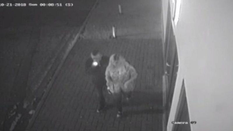CCTV footage showed the pair on a night out together (CAMBRIDGESHIRE POLICE)