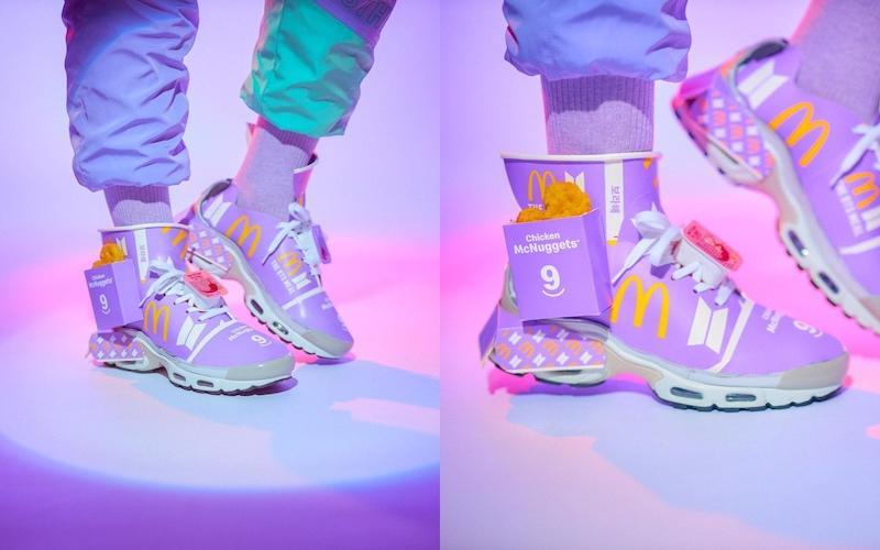 Chua used up packaging from six sets of the BTS Meal to produce the custom shoes. — Pictures via Instagram/josiahchua