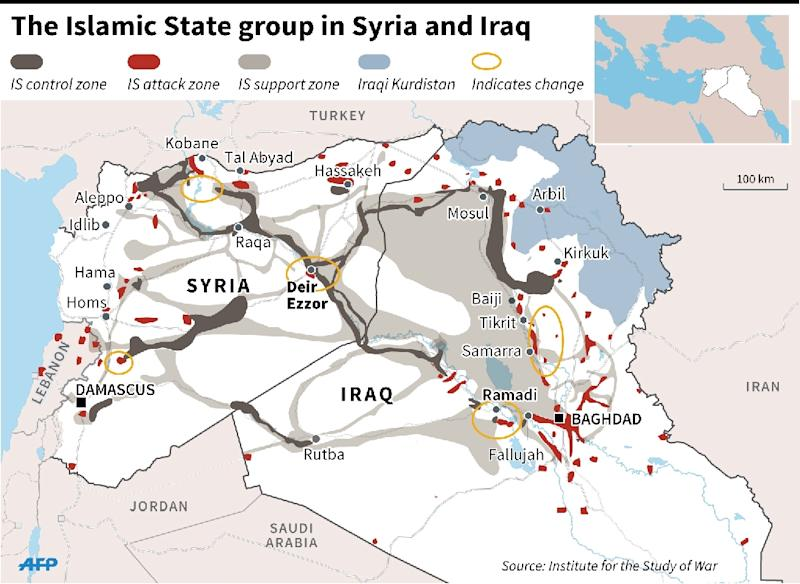 Islamic States group in Syria and Iraq (AFP Photo/Jonathan JACOBSEN)