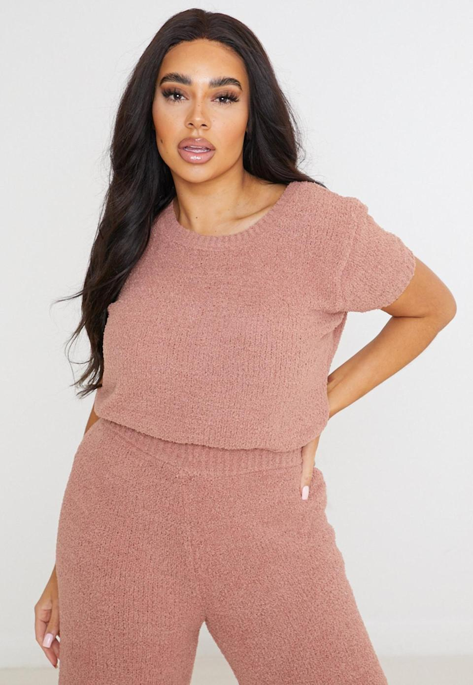 <p>While this <span>Missguided Knit T-Shirt</span> ($17, originally $39) is made for a matching set, it would work just as well with a pair of linen pants, too. </p>
