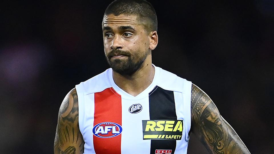 Brad Hill's up and down start to the AFL season has been a reflection of the Saints' season so far. (Photo by Quinn Rooney/Getty Images)