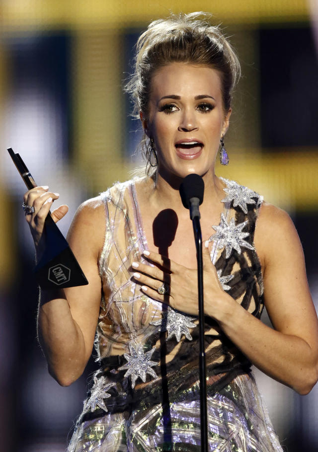 """<p>Carrie Underwood accepts the award for female video of the year for """"Church Bells"""" at the CMT Music Awards at Music City Center on Wednesday, June 7, 2017, in Nashville, Tenn. (Photo by Wade Payne/Invision/AP) </p>"""