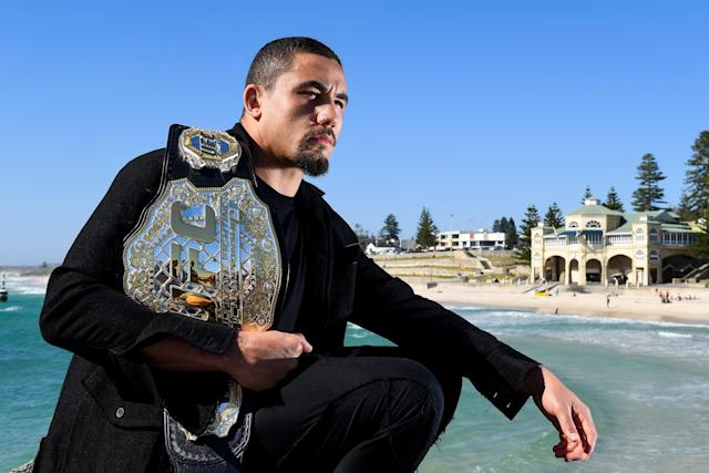 Robert Whittaker enters UFC 243 with a 20-4 record: (Getty)