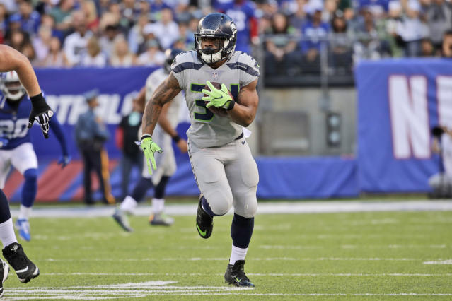 Yup, another week, another Seahawks RB. Thomas Rawls has a shot at a significant Week 10 workload. (AP Photo/Julio Cortez)