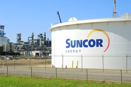 Suncor Energy facility is seen in Sherwood Park, Alberta