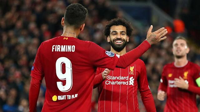 Mohamed Salah and Roberto Firmino were named on the bench by Jurgen Klopp for the Merseyside derby at Anfield.