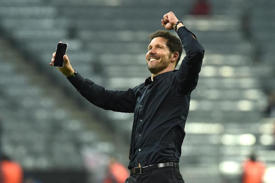 Diego Simeone has transformed Atletico from a self-destructing shambles into a European powerhouse in the past four years (AFP Photo/Christof Stache)