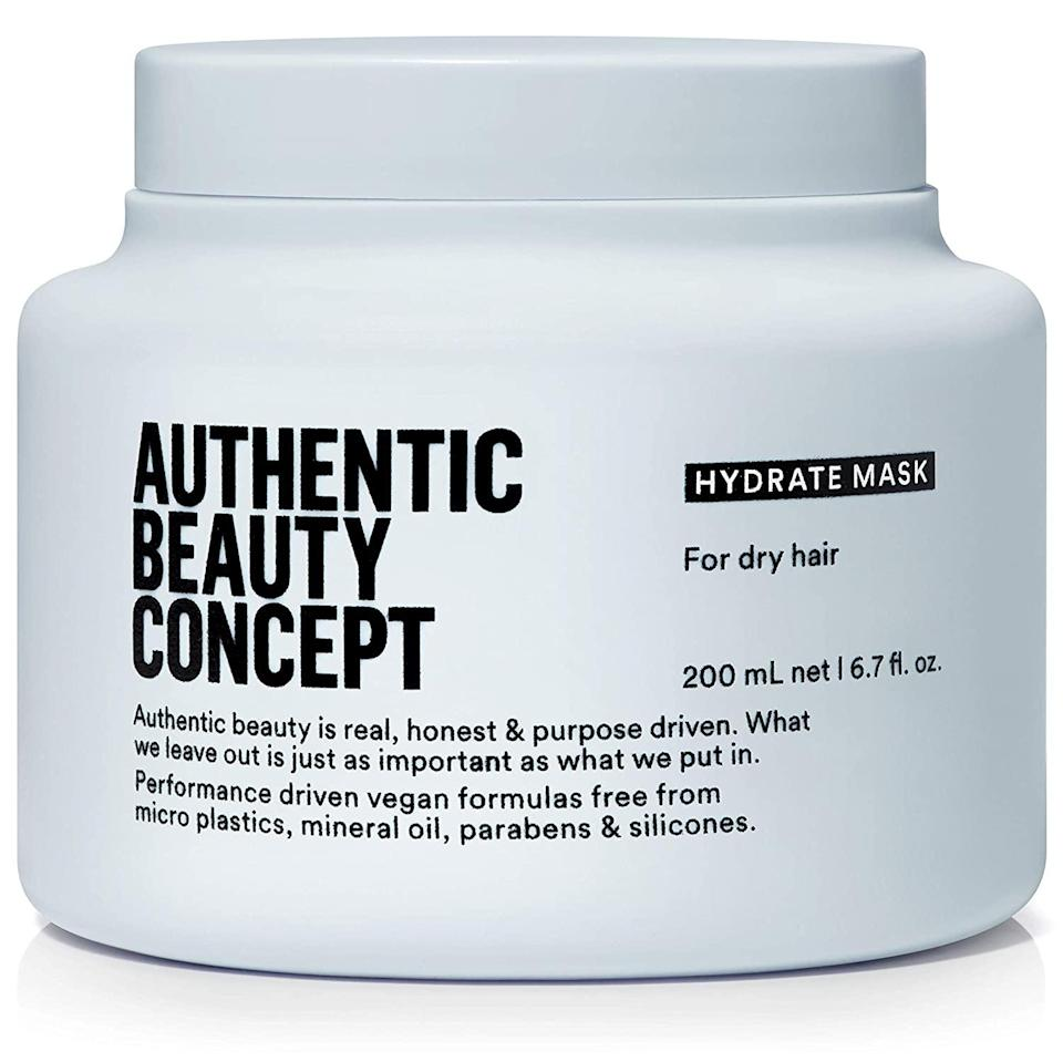 <p>If you have normal to dry hair, try out the <span>Authentic Beauty Concept Hydrate Mask</span> ($30, originally $38). It'll add shine and moisture to your hair in just five-ten minutes without weighing it down. It's great for those with curly hair as well!</p>