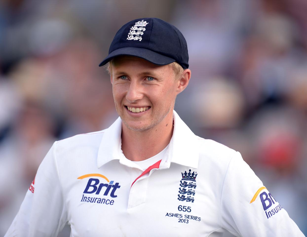 England's Joe Root smiles after getting the Man of the Match Award at the end of play on day four of the Second Investec Ashes Test at Lord's Cricket Ground, London.
