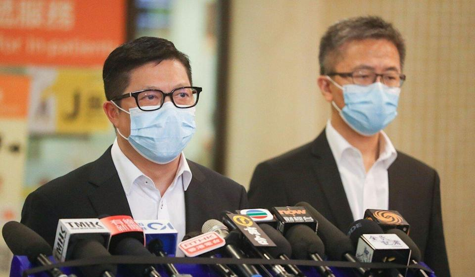 Secretary for Security Chris Tang (left) and police commissioner Raymond Siu. Photo: Edmond So