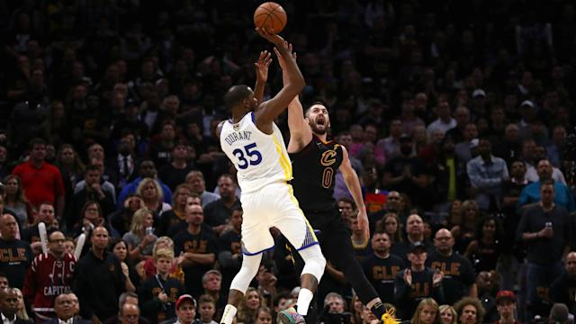 Steve Kerr was full of praise for Kevin Durant, who scored 43 points to lead the Golden State Warriors to a 3-0 series lead on Wednesday.