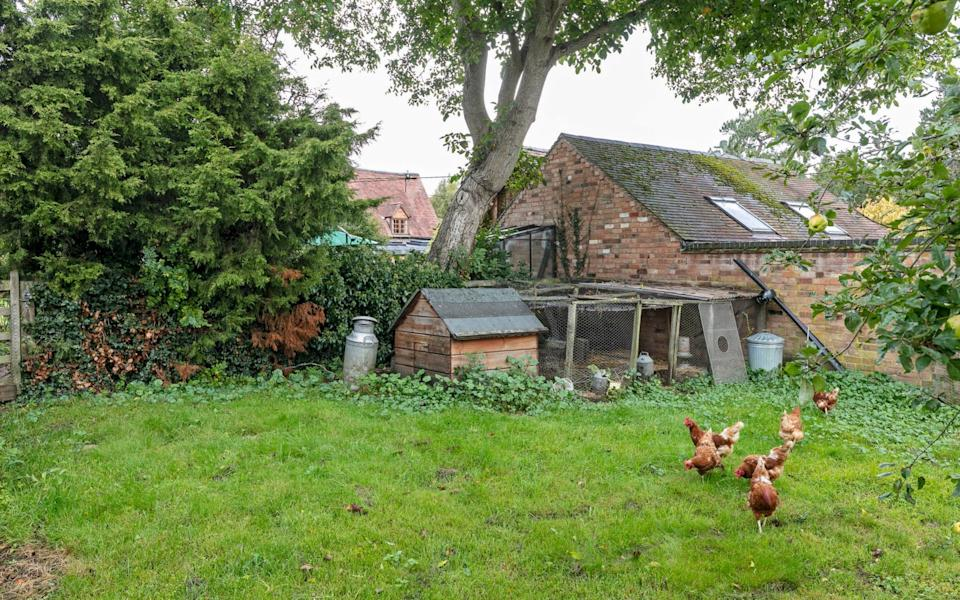 Brooks Farmhouse near Rugby in Warwickshire has a chicken coop. It is £965,000 with Knight Frank
