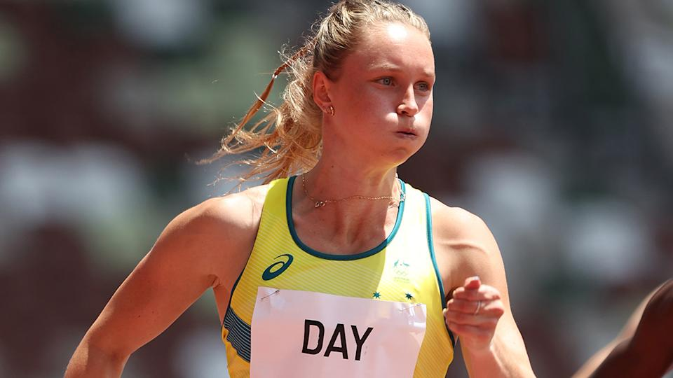Riley Day, pictured here competing in the 200m heats at the Tokyo Olympics.
