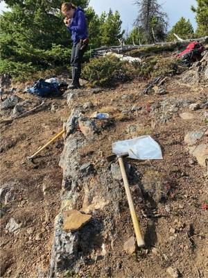 Figure 2A - Photograph of a steeply dipping epithermal-style quartz vein outcrop from the Nova prospect (CNW Group/Talisker Resources Ltd)