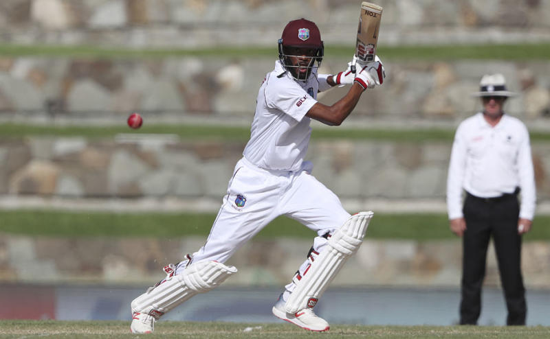 Roston Chase put up some fight for West Indies after he scored 48 runs off 74 balls, with the knock consisting five fours and one six. AP