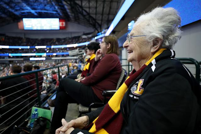 Sister Jean was in attendance at Loyola's NCAA tournament game against Miami, and witnessed the most dramatic buzzer-beater of March Madness so far. (Getty Images)
