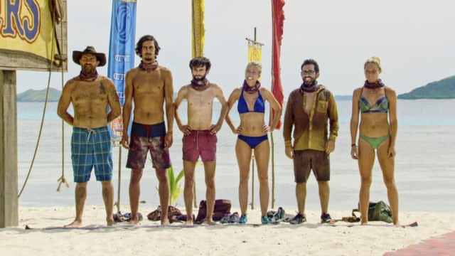 Final six castaways on Survivor: Heroes Vs. Healers Vs. Hustlers