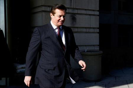 FILE PHOTO: Former Trump campaign manager Manafort departs after a bond hearing at U.S. District Court in Washington