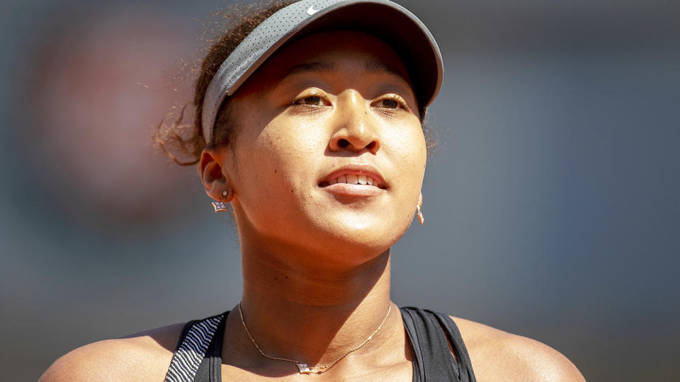 Naomi Osaka, pictured here in action during the opening round of the French Open.