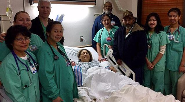 Maria with the nursing staff. Source: Delano Regional Medical Centre