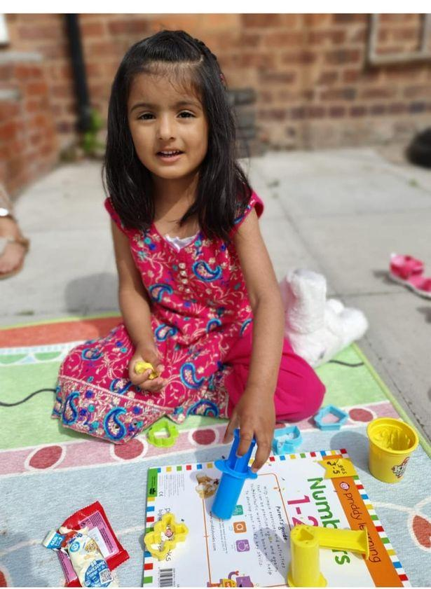 Aamina Asum, aged 4 has been seen with her mother in Cairo. The family fear they are sleeping rough. (West Midlands Police)