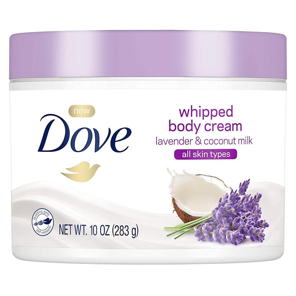 <p>This <span>Dove Whipped Lavender and Coconut Milk Body Cream</span> ($8) has sweet floral notes that will make you swoon every time you put it on. With a light, creamy formula, you'll instantly notice that your skin feels moisturized and soft to the touch.</p>